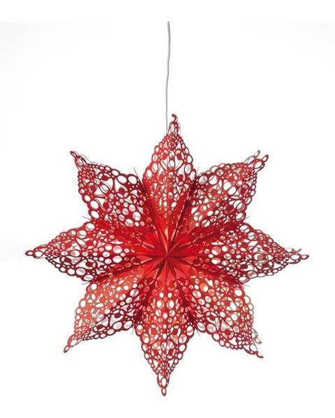 Markslöjd Červená závesná dekorácia v tvare hviezdy Markslöjd Hall
