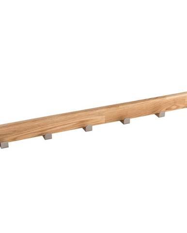 Prírodný dubový vešiak so 6 háčikmi Rowico Sol