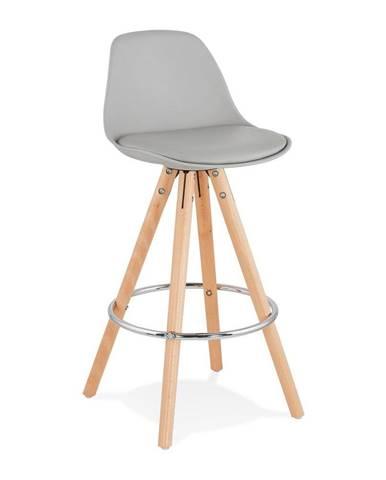 Sivá barová stolička Kokoon Anau, výška 64 cm