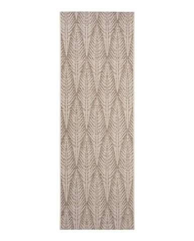 Hnedobéžový vonkajší koberec Bougari Pella, 70 x 200 cm