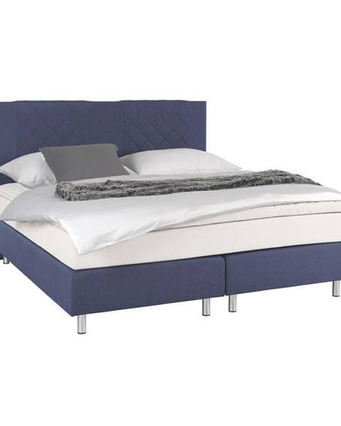 Carryhome Carryhome POSTEĽ BOXSPRING, 160/200 cm, textil, modrá - modrá