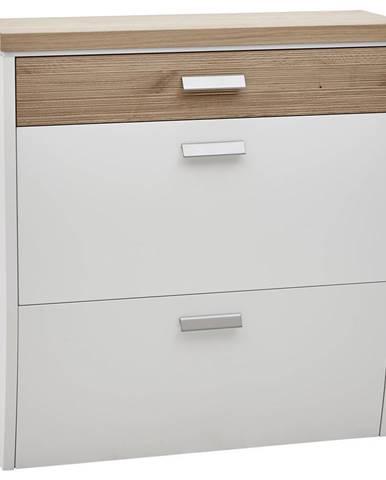 Dieter Knoll SKRINKA NA TOPÁNKY, biela, farby dubu, divý dub, 92/96/31 cm - biela, farby dubu