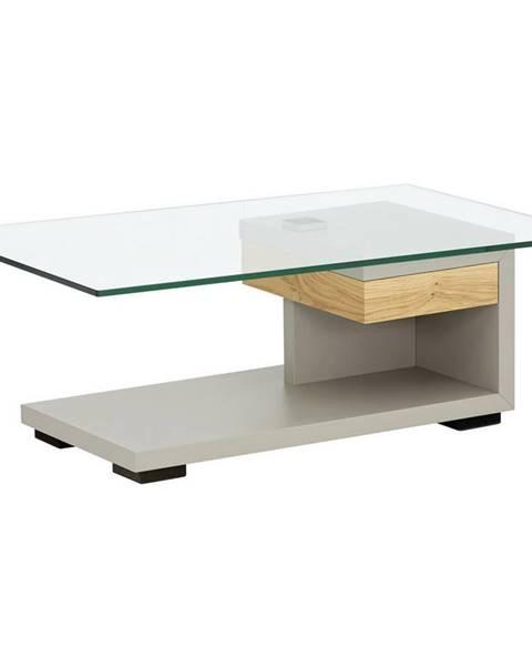 Moderano Moderano KONFERENČNÝ STOLÍK, farby dubu, fango, drevo, sklo, kompozitné drevo, 110/65/40 cm - farby dubu, fango
