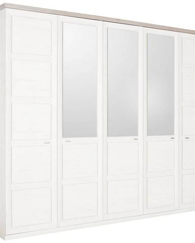 Hom`in SKRIŇA S OTOČNÝMI DVERAMI, sivá, biela, 255/209/60 cm - sivá, biela