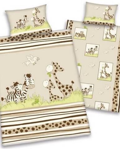Herding Obliečky do postieľky bavlna Safari, 100 x 135 cm, 40 x 60 cm