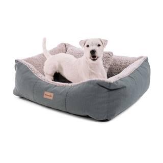 Brunolie Emma, pelech pre psa, kôš pre psa, možnosť prania, protišmykový, priedušný, obojstranný matrac, vankúš, veľkosť S (67 × 20 × 59 cm)