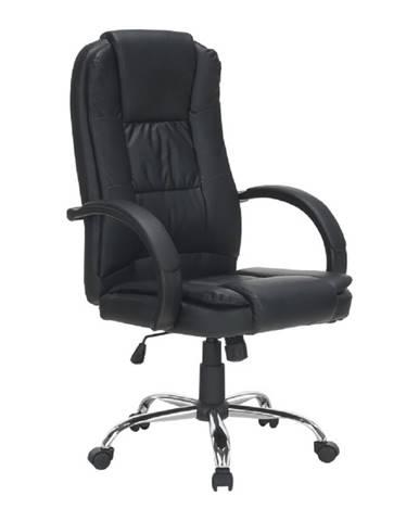 Kancelárske kreslo čierna/chróm MADOX