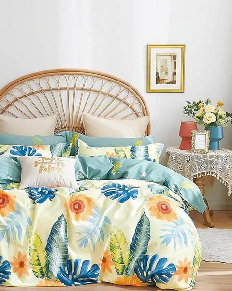 MERKURY MARKET Bavlnená saténová posteľná bielizeň ALBS-01257B 160X200