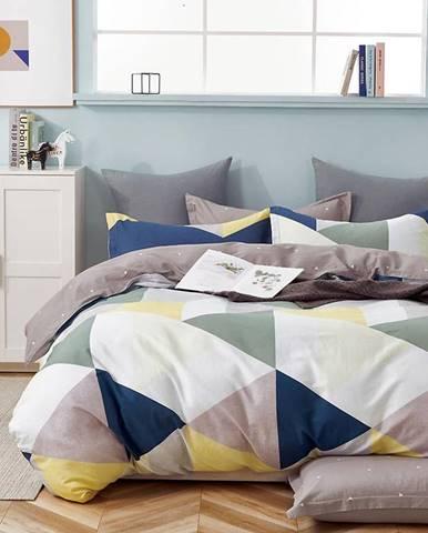 Bavlnená saténová posteľná bielizeň ALBS-01233B 160X200