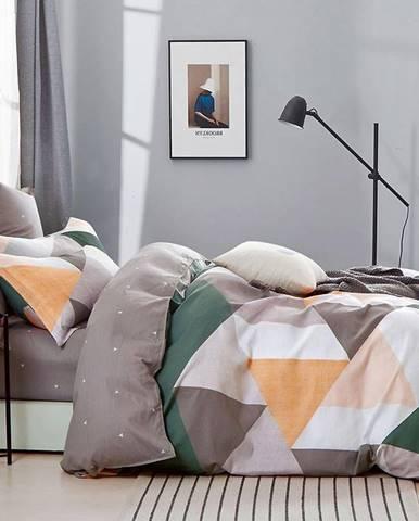 Bavlnená saténová posteľná bielizeň ALBS-1232B 140X200