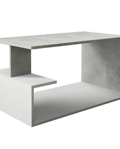 Konferenčný stolík Dante beton/biely