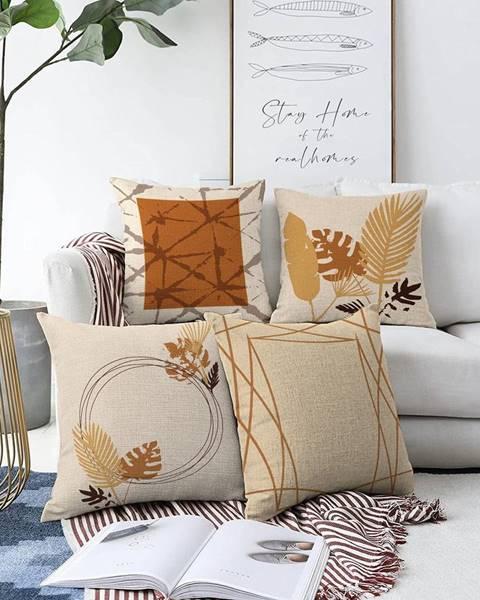 Minimalist Cushion Covers Súprava 4 obliečok na vankúše Minimalist Cushion Covers Neutral, 55 x 55 cm
