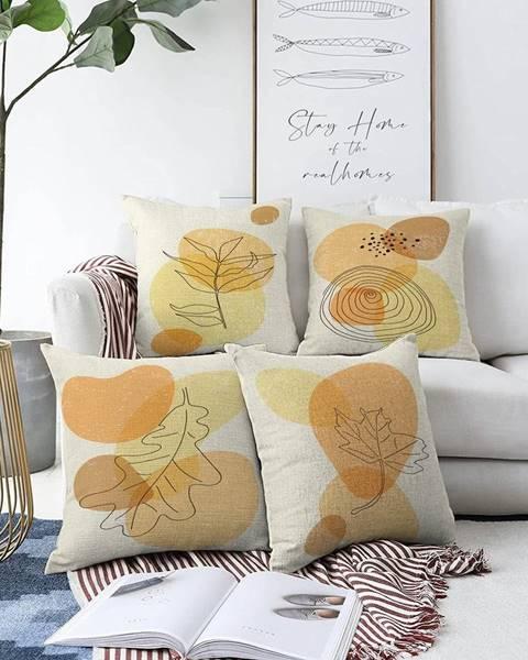 Minimalist Cushion Covers Súprava 4 obliečok na vankúše Minimalist Cushion Covers Sunset Colours, 55 x 55 cm
