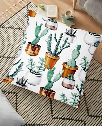 Obliečka na vankúš s prímesou bavlny Minimalist Cushion Covers Cactus in Pot, 70 x 70 cm