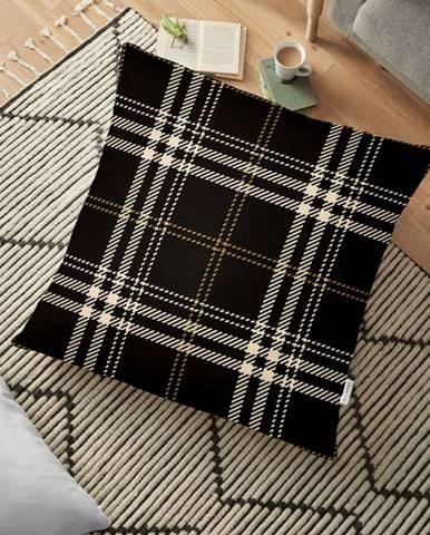 Obliečka na vankúš s prímesou bavlny Minimalist Cushion Covers Squares, 70 x 70 cm