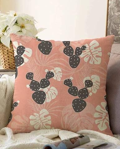 Oranžová obliečka na vankúš s prímesou bavlny Minimalist Cushion Covers Chenille, 55 x 55 cm