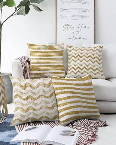 Súprava 4 obliečok na vankúše Minimalist Cushion Covers Geometric, 55 x 55 cm