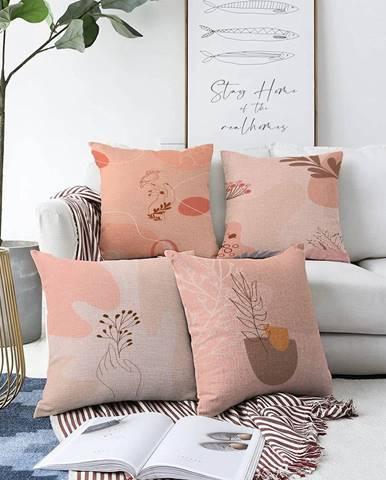 Súprava 4 obliečok na vankúše Minimalist Cushion Covers Purity, 55 x 55 cm