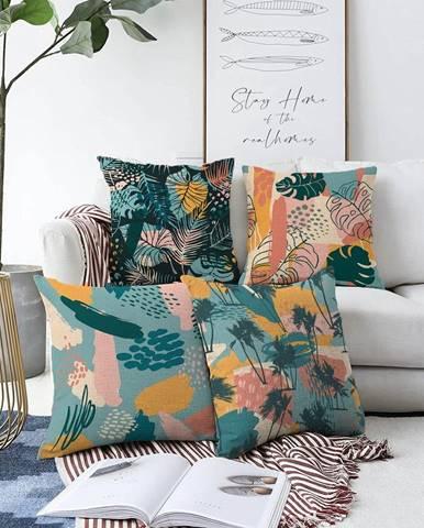 Súprava 4 obliečok na vankúše Minimalist Cushion Covers Seacoast, 55 x 55 cm