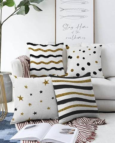 Súprava 4 obliečok na vankúše Minimalist Cushion Covers Sky, 55 x 55 cm