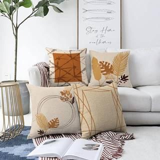 Súprava 4 obliečok na vankúše Minimalist Cushion Covers Neutral, 55 x 55 cm