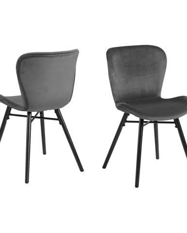 Sivá jedálenská stolička Actona Batilda