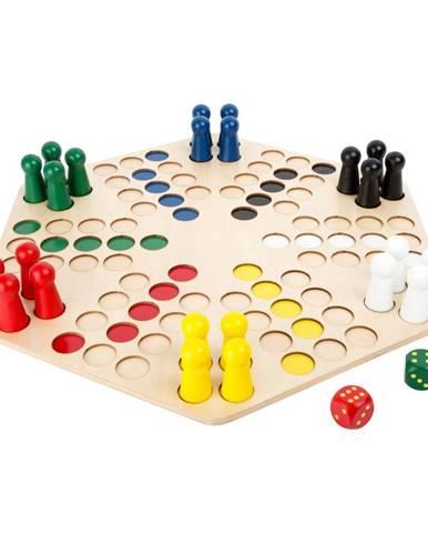 Drevená stolová hra pre 6 hráčov Legler Ludo