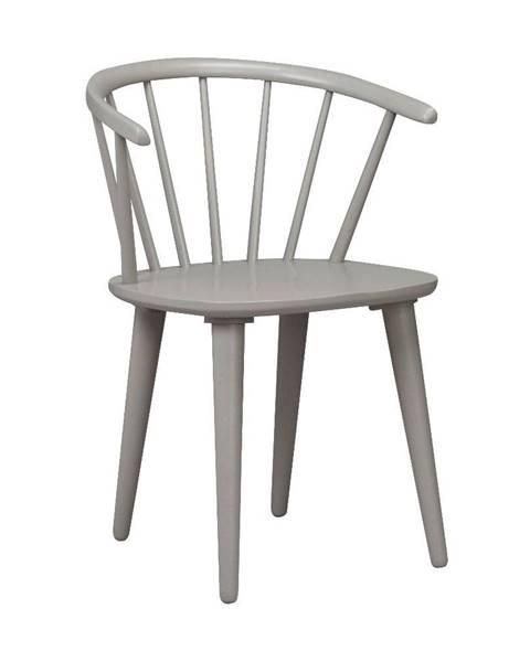 Rowico Svetlosivá jedálenská stolička z dreva kaučukovníka Rowico Carmen
