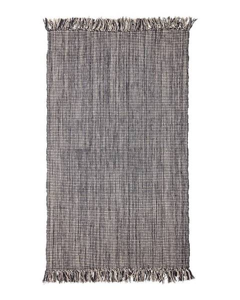 Bloomingville Sivá bavlnený koberec Bloomingville Multi, 90 x 150 cm
