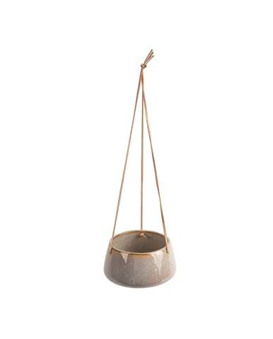Sivý keramický závesný kvetináč PT LIVING Unique, ø 20,5 cm