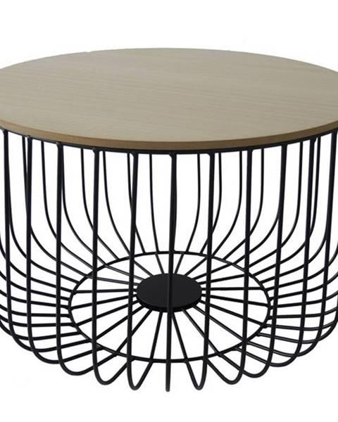 Sconto Odkladací stolík FU14 paulovnia, Ø 50 cm