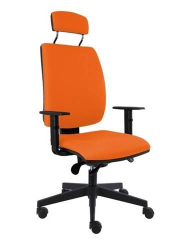 Kancelárska stolička CHARLES oranžová