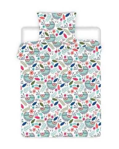 4Home Krepové obliečky Birds, 160 x 200 cm, 70 x 80 cm