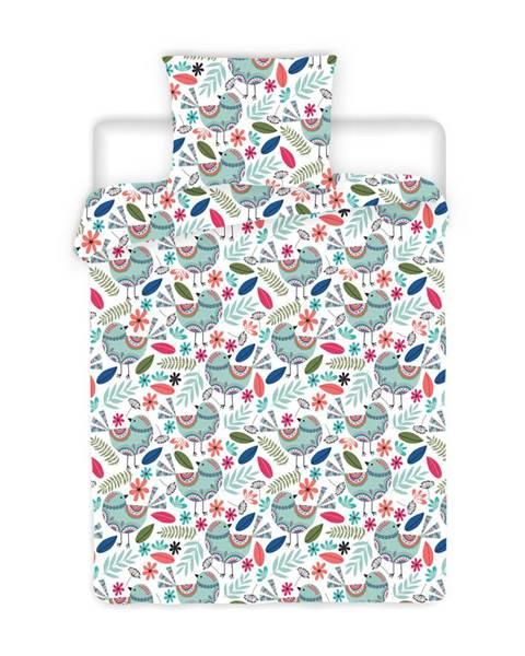 4Home 4Home Krepové obliečky Birds, 140 x 200 cm, 70 x 90 cm