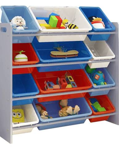 Organizér na hračky viacfarebná/sivá KIDO TYP 1