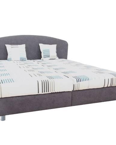 Manželská posteľ sivá/vzor 160x200 MADIA