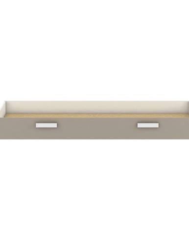 Úložný priestor pod posteľ biela/sivohnedá taupe TIDY