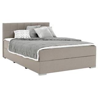Boxspringová posteľ 140x200 sivohnedá TAUPE FERATA TV KOMFORT