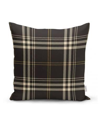 Čierno-béžová dekoratívna obliečka na vankúš Minimalist Cushion Covers Flannel, 35 x 55 cm