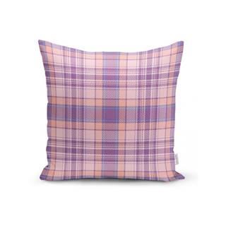Ružovo-fialová dekoratívna obliečka na vankúš Minimalist Cushion Covers Flannel, 35 x 55 cm