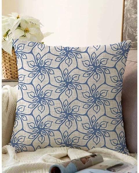 Minimalist Cushion Covers Modrá obliečka na vankúš s prímesou bavlny Minimalist Cushion Covers Chic, 55 x 55 cm