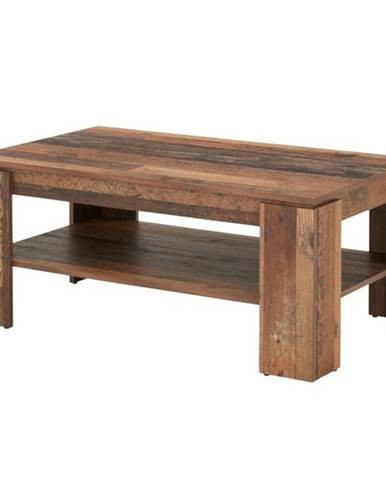 Konferenčný stolí HARRISON tmavé drevo s patinou