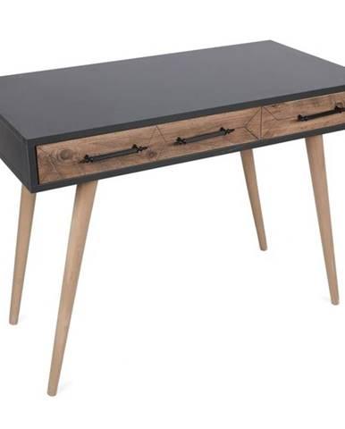 Písací stôl MILANO borovica/antracit