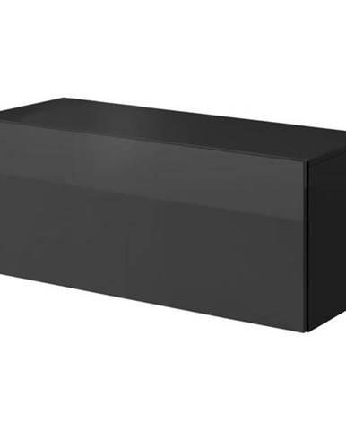 TV komoda VIVO VI 1 100 cm, čierna