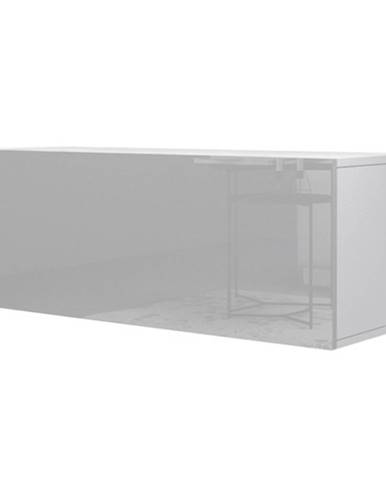 TV komoda VIVO VI 1 LED 100 cm, biela vysoký lesk