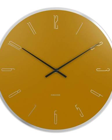 Karlsson 5800YE dizajnové nástenné hodiny, pr. 40 cm