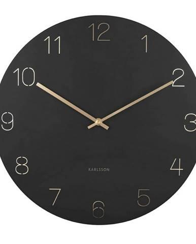 Karlsson 5762BK dizajnové nástenné hodiny, pr. 40 cm