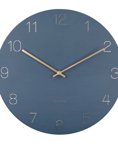 Karlsson 5762BL dizajnové nástenné hodiny, pr. 40 cm