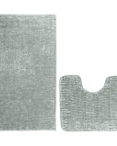 AmeliaHome Sada kúpeľňových predložiek Bati sivá, 2 ks 50 x 80 cm, 40 x 50 cm