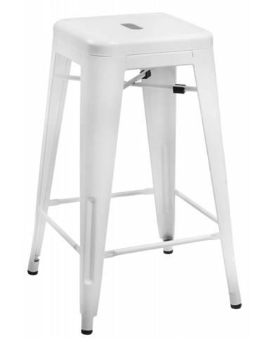 ArtD Barová stolička Paris 75cm inšpirovaná Tolix biela